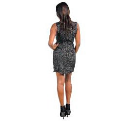 Stanzino Women's Black Sprinkle Print Sleeveless Dress