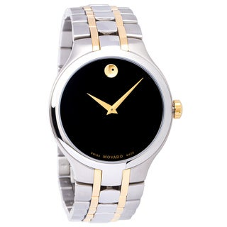 Movado Men's 0606371 Two Tone Black Dial Museum Watch