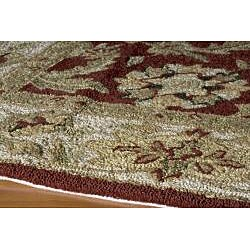 Indoor/ Outdoor South Beach Persian Burgundy Rug (8' x 10')