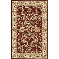 Indoor/ Outdoor South Beach Persian Burgundy Rug (5' x 8')