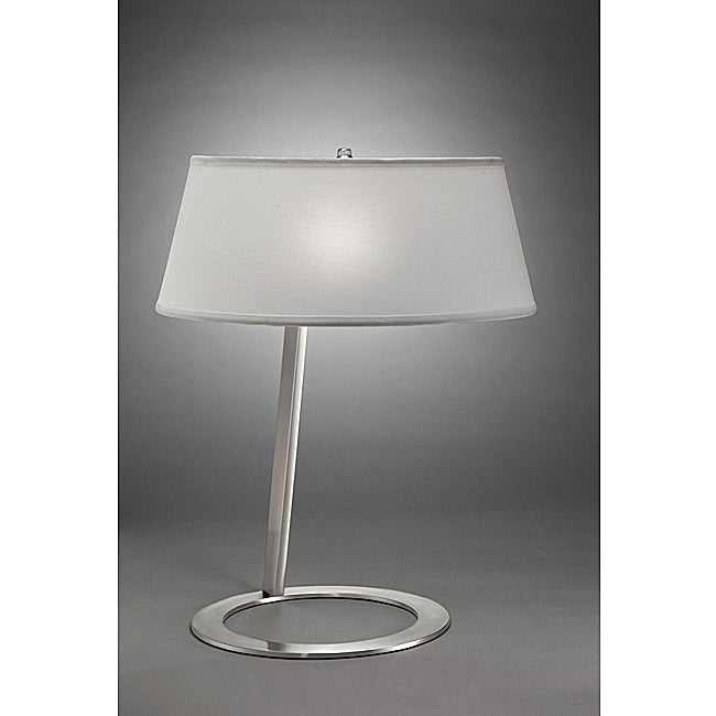 Contemporary 1-light Table Lamp in Matte Nickel