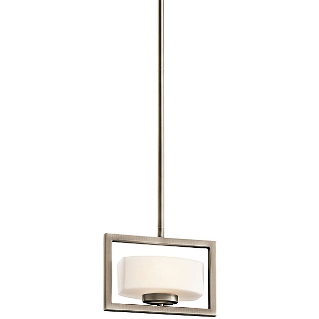 Contemporary Antique Pewter 1-light Pendant