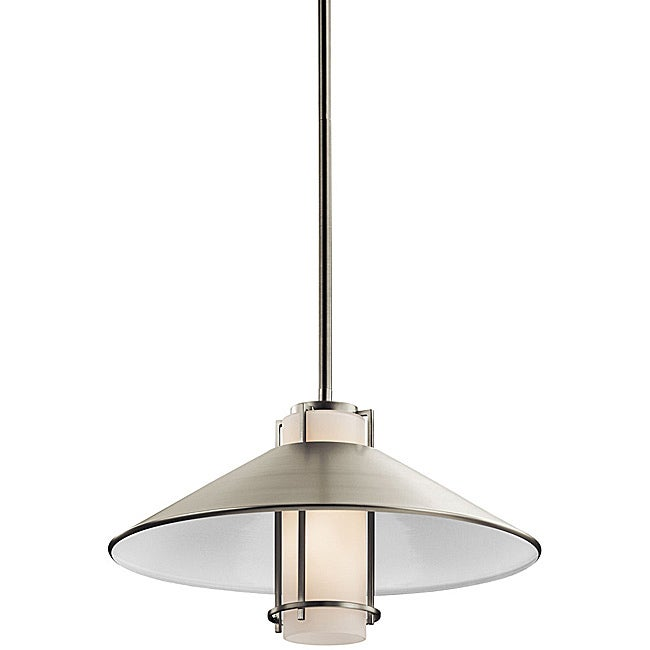 Contemporary Brushed Nickel 1-light Pendant