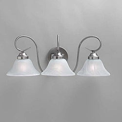 Transitional Brushed Nickel 3-light Bath Light Fixture