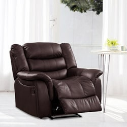 Casanova Brown Bonded Leather Reclining Chair