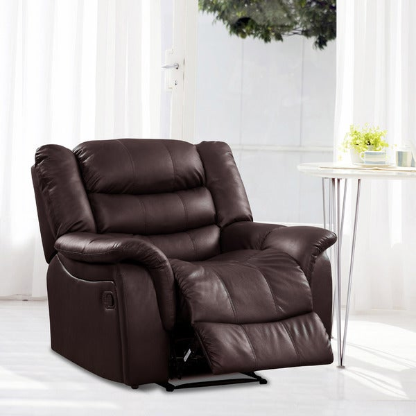 Casanova Brown Bonded Leather Reclining Chair - Overstocku2122 Shopping - Big Discounts on Recliners