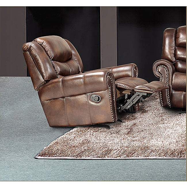 Godfather Brown Bonded Leather Rocker Reclining Chair at Sears.com
