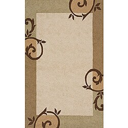 South Beach Indoor/Outdoor Beige Scroll Rug (5' x 8')