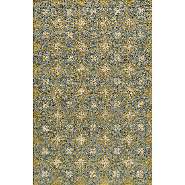 South Beach Indoor/Outdoor Yellow Celebration Rug (8' x 10')