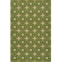 South Beach Indoor/Outdoor Green Celebration Rug (8' x 10')