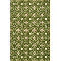 South Beach Indoor/Outdoor Green Celebration Rug (5' x 8')