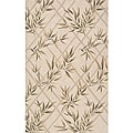 South Beach Indoor/Outdoor Ivory Leaves Rug (8' x 10')