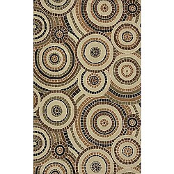 South Beach Tan Mosaic Indoor/Outdoor Rug (5' x 8')