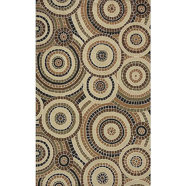 South Beach Tan Mosaic Indoor/Outdoor Rug (3'9 x 5'9)