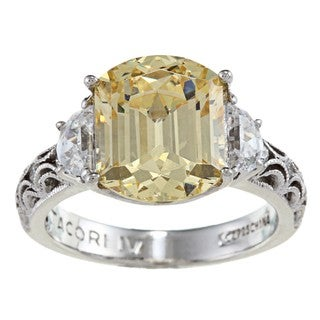 Tacori IV Cubic Zirconia Epiphany Cushion Canary Ring