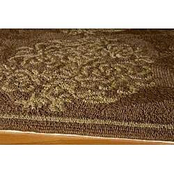 Indoor/ Outdoor South Beach Brown Bouquet Rug (3'9 x 5'9)