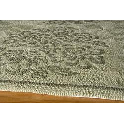 Indoor/ Outdoor South Beach Sage Bouquet Rug (2' x 3')