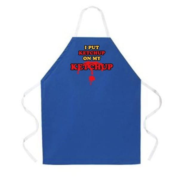 Attitude Aprons 'Ketchup on my Ketchup' Blue Apron