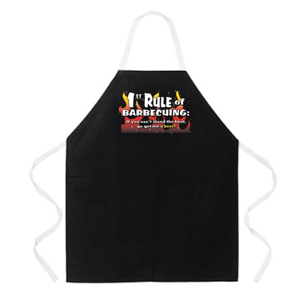 Attitude Aprons '1st Rule of BBQing' Black Apron