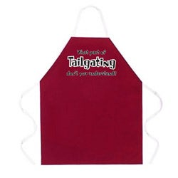 Attitude Aprons 'What Part of Tailgating?' Red Apron
