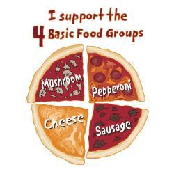 Attitude Aprons 'Pizza Food Groups' White Apron