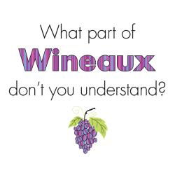 Attitude Aprons 'Wineaux' White Apron