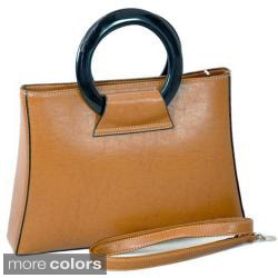 Dasein Faux-leather Briefcase-style Zip-top Satchel Tote Bag