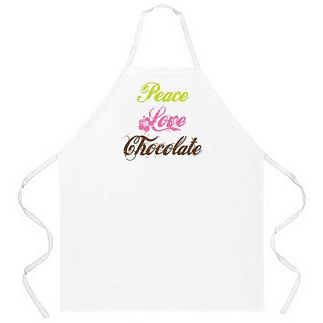 Attitude Aprons 'Peace Love Chocolate' Apron