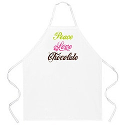 Attitude Aprons 'Peace Love Chocolate' Apron