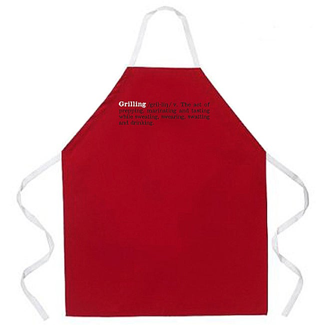 Attiude Aprons 'Grilling Definition' Red Apron