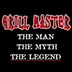 Attitude Aprons 'Grill Master' Black Apron