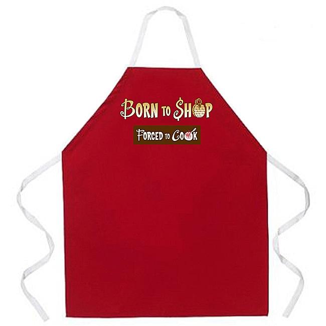Attitude Aprons 'Born to Shop' Red Apron