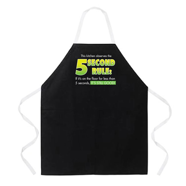 Attitude Aprons '5 Second Rule' Black Apron