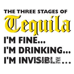 Attitude Aprons '3 Stages of Tequila' White Apron