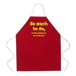 Attitude Aprons 'So Much To Do' Red Apron