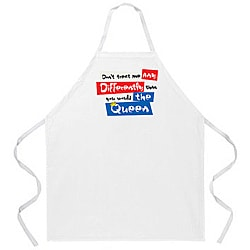 Attitude Aprons 'Don't Treat Me Different' White Apron