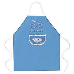 Attitude Aprons 'Angels as Grandmas' Blue Apron