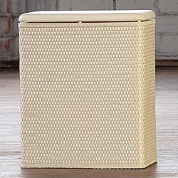 Carter Ivory Upright Hamper
