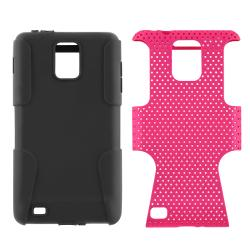 Black/ Hot Pink Hybrid Case for Samsung i997 Infuse 4G