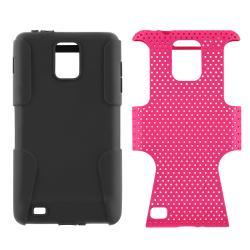 INSTEN Black/ Hot Pink Hybrid Phone Case Cover for Samsung i997 Infuse 4G