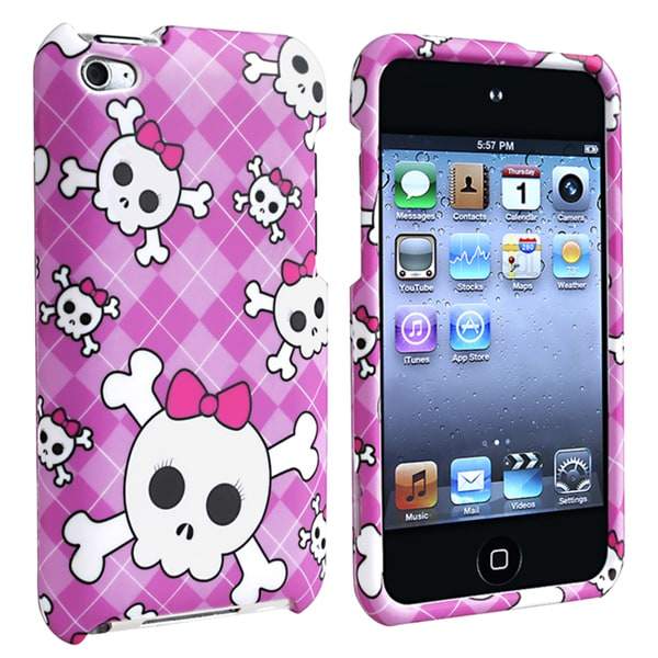 Snap-on Rubber Coated Case for Apple iPod Touch Generation 4