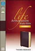 Life Application Study Bible: New International Version, Burgundy, Bonded Leather (Paperback)