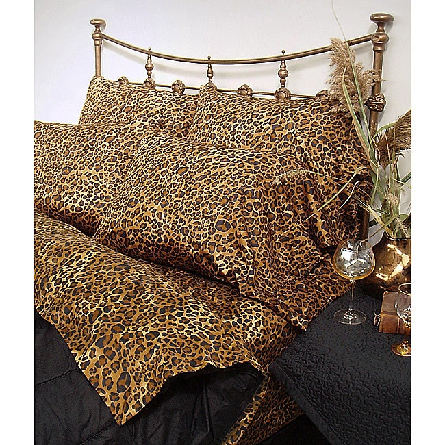 Wildlife Leopard Cal King-size Sheet Set