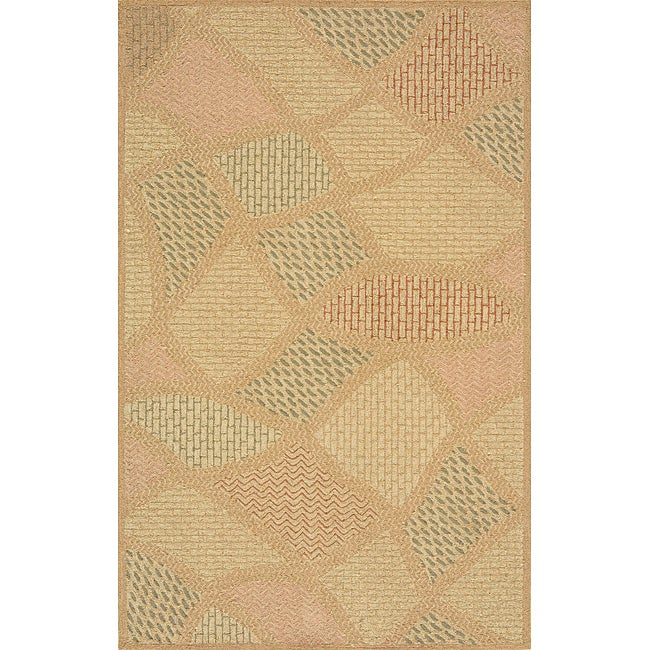 Outdoor South Beach Multi Stones Rug (3'9 x 5'9)