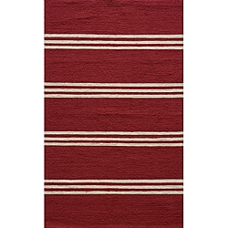 Outdoor South Beach Red Stripes Rug (5' x 8')
