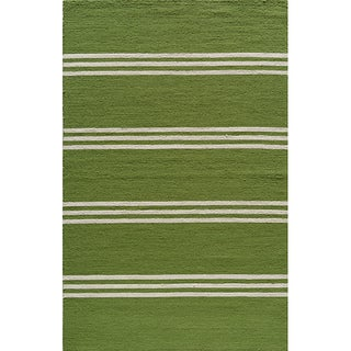 Indoor/ Outdoor South Beach Lime Stripes Rug (8' x 10')