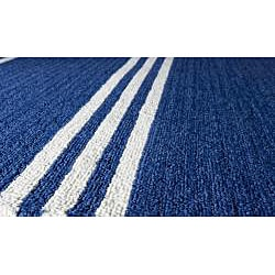 South Beach Indoor/Outdoor Blue Stripes Rug (5' x 8')
