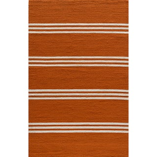 Indoor/Outdoor South Beach Orange Striped Rug (8' x 10')