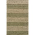 Indoor/Outdoor South Beach Sage Striped Rug (5' x 8')
