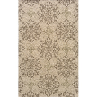 Indoor/ Outdoor South Beach Beige Medallions Rug (8' x 10')